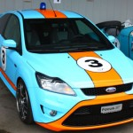 A Focus in Gulf Oil colors